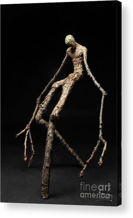 Adam Acrylic Print featuring the sculpture Travail by Adam Long