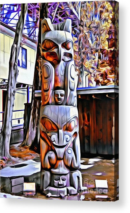 Totem Pole Acrylic Print featuring the photograph Van. 0081 by Charles Cunningham