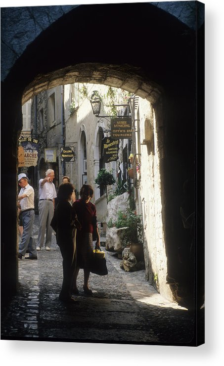 Enchanting Acrylic Print featuring the photograph St. Paul De Vence by Carl Purcell