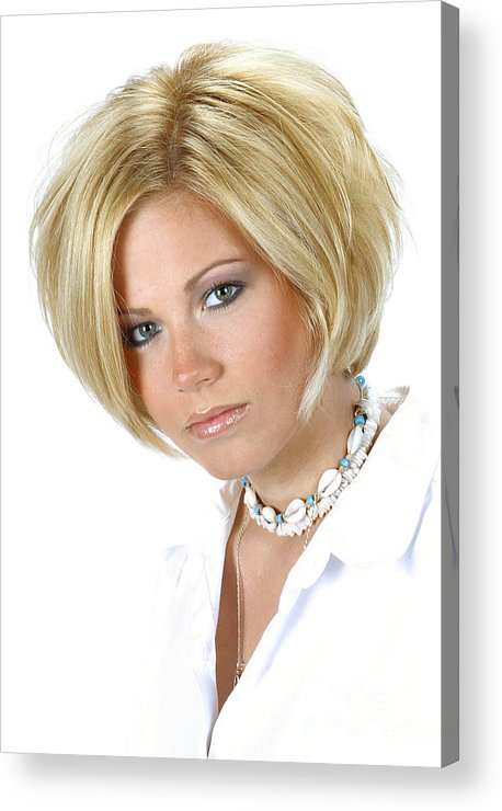 Model Acrylic Print featuring the photograph White 11-crop by Gary Gingrich Galleries