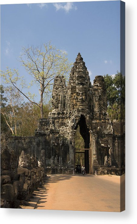 Ancient Acrylic Print featuring the photograph Angkor Thom by Gloria & Richard Maschmeyer