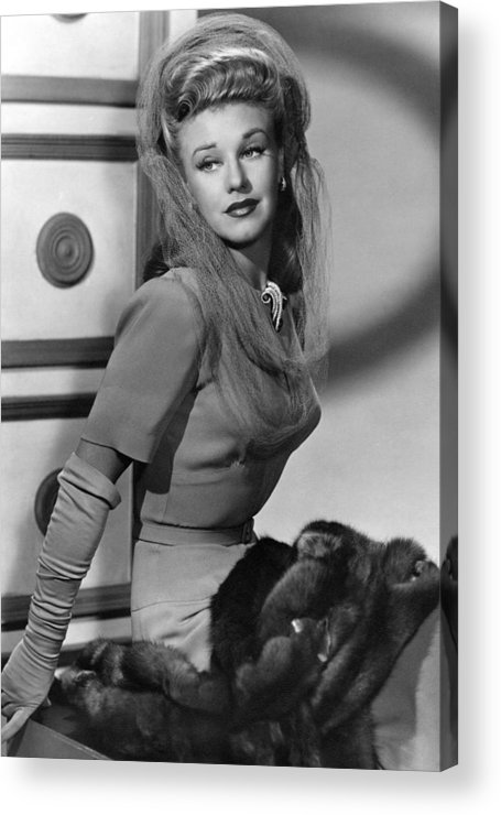 11x14lg Acrylic Print featuring the photograph Ginger Rogers, Ca. 1943 by Everett