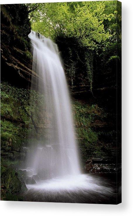 County Leitrim Acrylic Print featuring the photograph Glencar Waterfall, County Leitrim by Richard Cummins