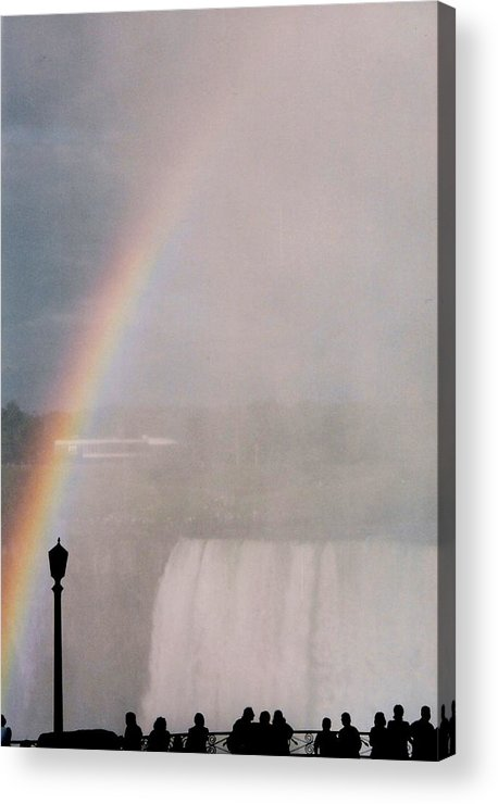 Waterfall Acrylic Print featuring the photograph Rainbow Falls by Pharris Art