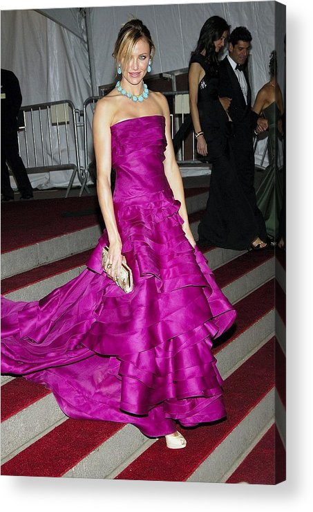 Auto Add Lbd Acrylic Print featuring the photograph Cameron Diaz Wearing Christian Dior by Everett