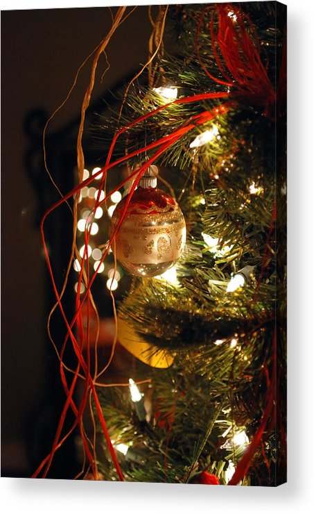 Festive Acrylic Print featuring the photograph Christmas Ornament by Charles Bacon Jr