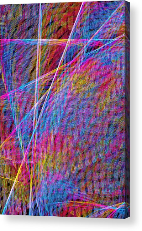 Abstracts Acrylic Print featuring the photograph Ferris Tracings 630 by Rich Walter