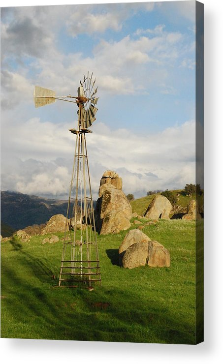 Windmill Acrylic Print featuring the photograph For The Whan't Water by Dan Rector