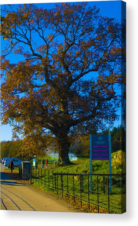 Cartmel Acrylic Print featuring the photograph Gateway To Carmel Racecourse by Peter Jenkins