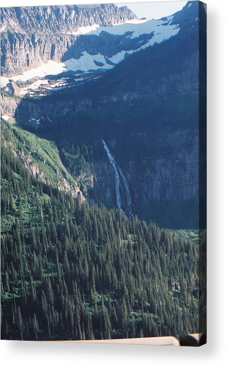 Ce Mcconnell Acrylic Print featuring the photograph Going To The Sun Waterfall by C E McConnell