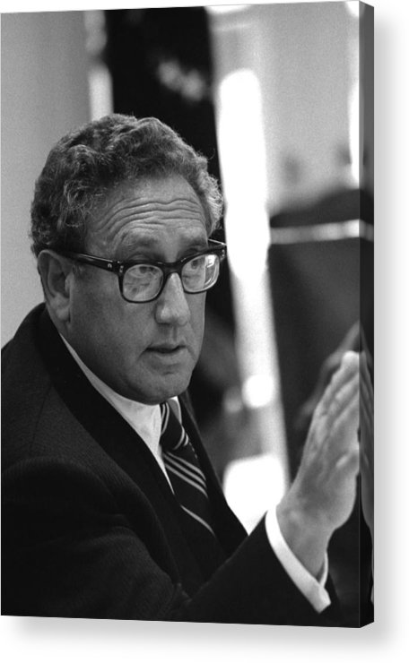 History Acrylic Print featuring the photograph Henry Kissinger In A Meeting Following by Everett