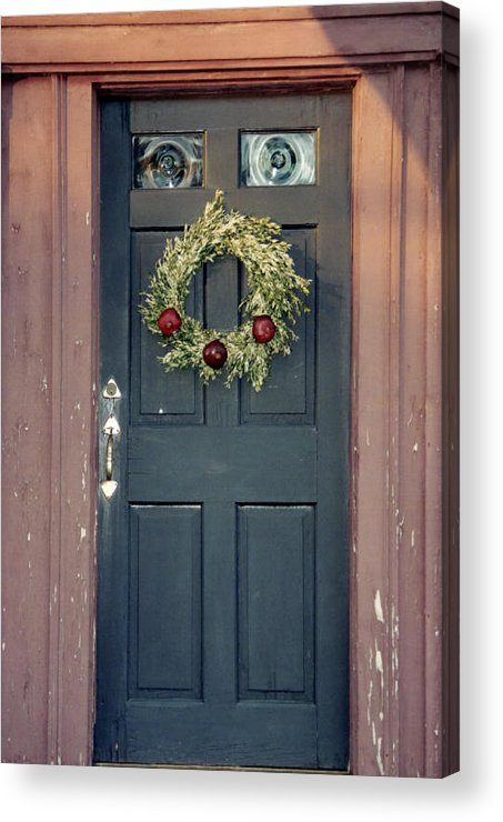 Holiday Acrylic Print featuring the photograph Holiday Door by Christina Solstad