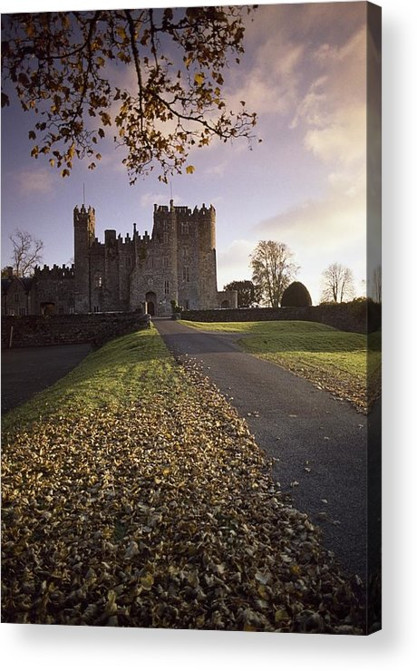 Day Acrylic Print featuring the photograph Kilkea Castle, Co Kildare, Ireland Road by The Irish Image Collection