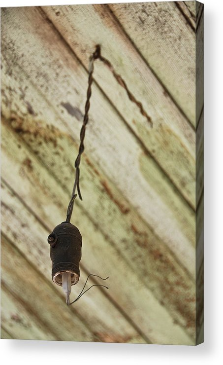 Old Light Fixture Acrylic Print featuring the photograph Lights Out by Shane Kelly