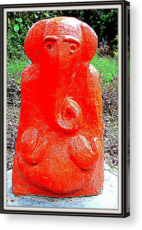 Sculptures From My Garden Acrylic Print featuring the sculpture Lord Ganesha by Anand Swaroop Manchiraju