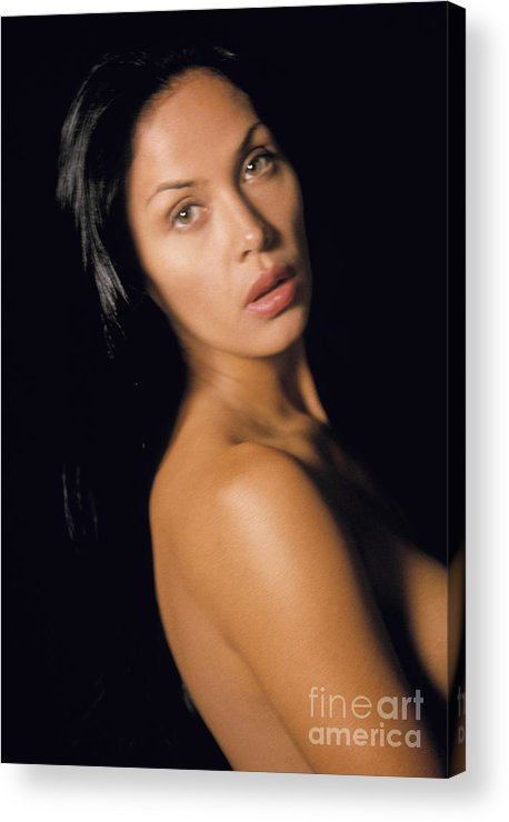 People Acrylic Print featuring the photograph Nude Woman by Juan Silva