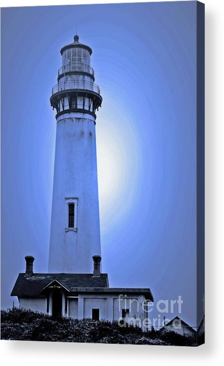 Lighthouse Acrylic Print featuring the photograph Pigeon Point Lighthouse by Chih-Hung Kao