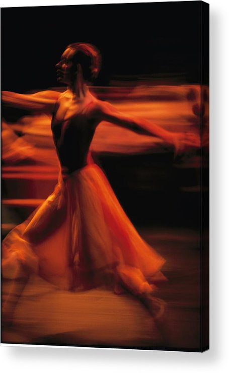Africa Acrylic Print featuring the photograph Portrait Of A Ballet Dancer Bathed by Michael Nichols