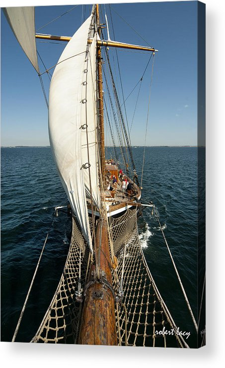 Tall Ships Acrylic Print featuring the photograph Riding The Breeze by Robert Lacy