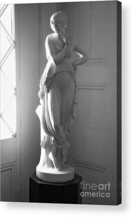 Statue Acrylic Print featuring the photograph Saucy In Black And White by Kathleen K Parker