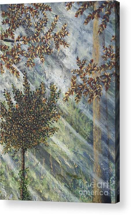 Forest Acrylic Print featuring the painting Spiritual Light by William Ohanlan
