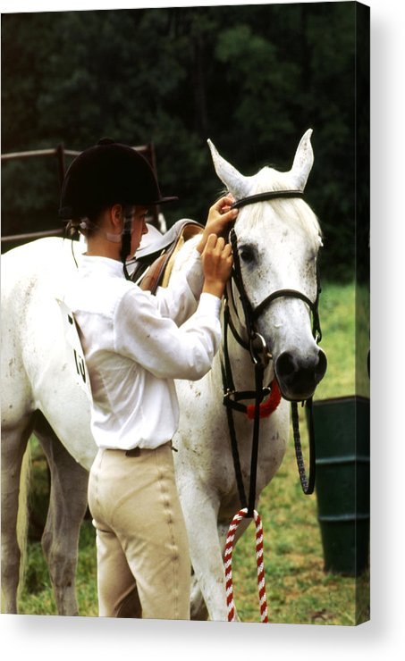 Teen Girl Acrylic Print featuring the photograph Teen Equestiran by Roger Soule