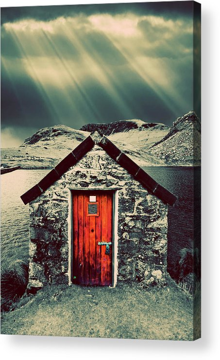 Snowdonia Acrylic Print featuring the photograph The Boathouse by Meirion Matthias