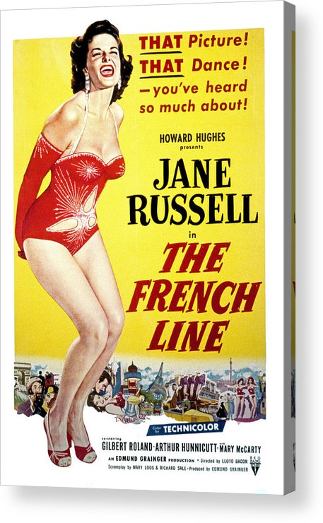 1950s Movies Acrylic Print featuring the photograph The French Line, Jane Russell, 1954 by Everett