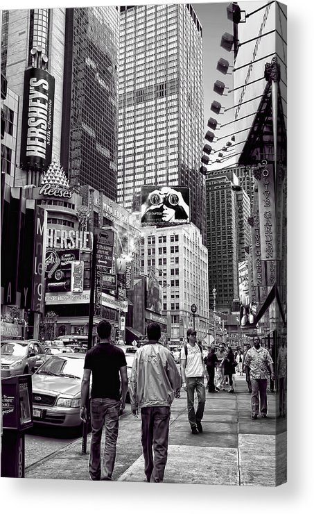 Architectural Photography Acrylic Print featuring the photograph Times Square by Andre Salvador