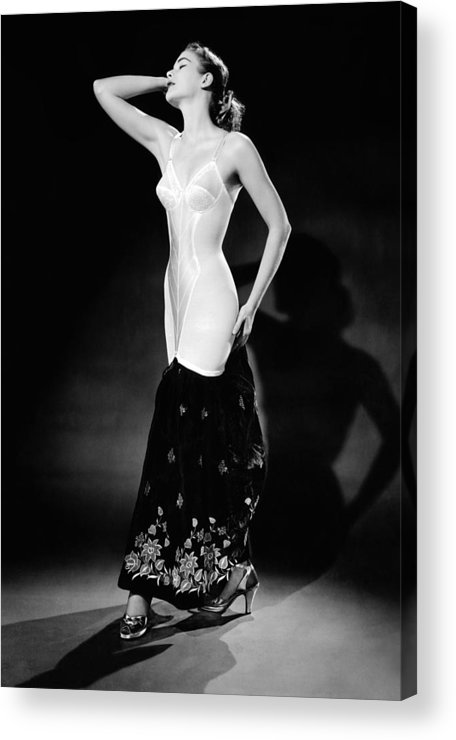 History Acrylic Print featuring the photograph Warner Corset Provided Full Body by Everett