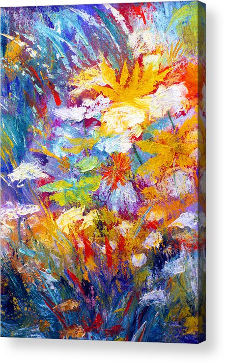 Wildflowers Acrylic Print featuring the painting Wildflowers by James Gallagher