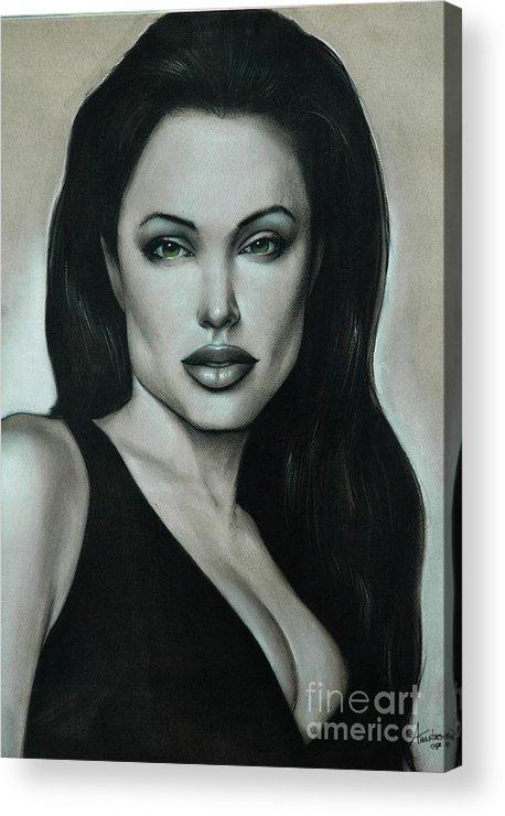 Angelina Jolie Acrylic Print featuring the painting Angelina Jolie by Anastasis Anastasi