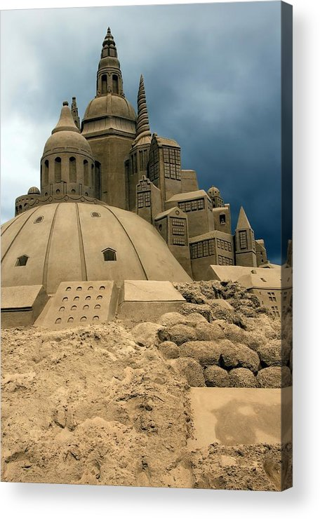 Sand Acrylic Print featuring the photograph Sand Castle by Sophie Vigneault