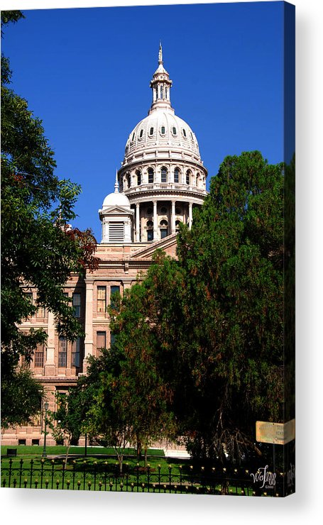 Texas Acrylic Print featuring the photograph Texas Capitol Building by Thea Wolff