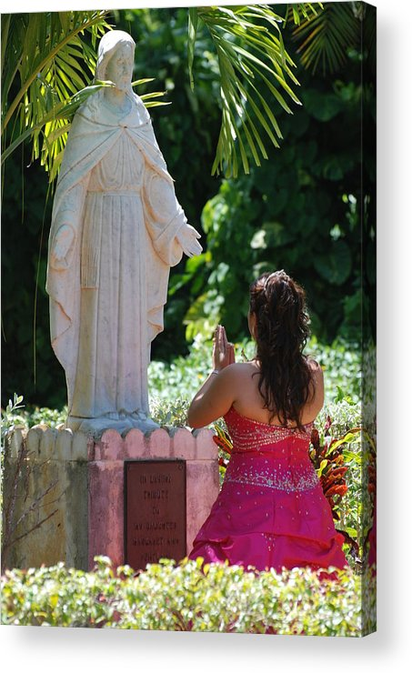 Portrait Acrylic Print featuring the photograph The Praying Princess by Rob Hans