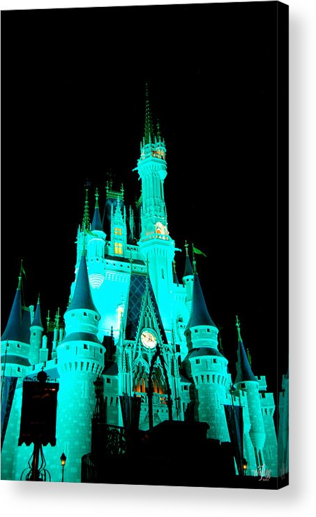 Cinderella Acrylic Print featuring the photograph Cinderella's Castle by Thea Wolff