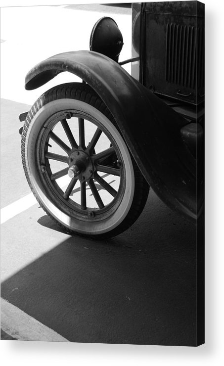 Black And White Acrylic Print featuring the photograph 1926 Model T Ford by Rob Hans