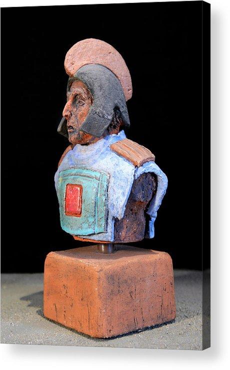 Warriors Acrylic Print featuring the sculpture Roman Legionaire - Warrior - Ancient Rome - Roemer - Romeinen - Antichi Romani - Romains - Romarere by Urft Valley Art