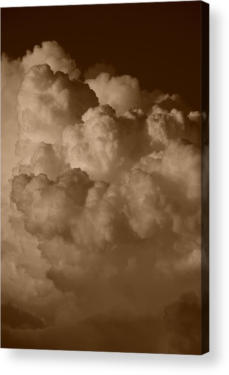 Sepia Acrylic Print featuring the photograph Sepia Clouds by Rob Hans