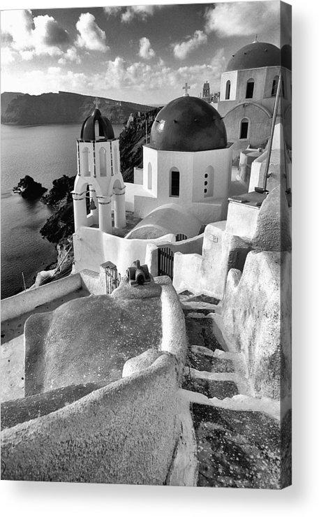 Santorini Acrylic Print featuring the photograph Greek Island - Santorini by Manolis Tsantakis
