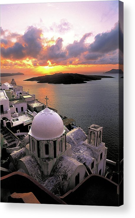 Santorini Acrylic Print featuring the photograph Santorini by Manolis Tsantakis