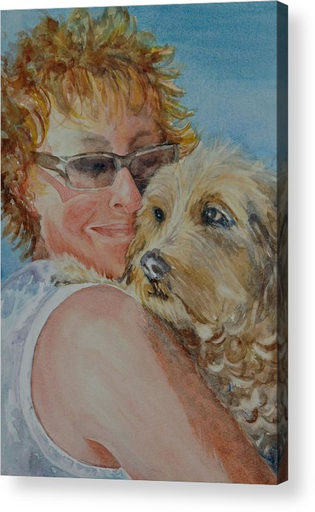 Dogs Acrylic Print featuring the painting A Girl's Best Friend by Diane Fujimoto