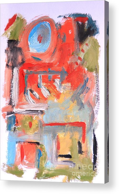 Abstract Acrylic Print featuring the painting Abstract 7204 by Michael Henderson