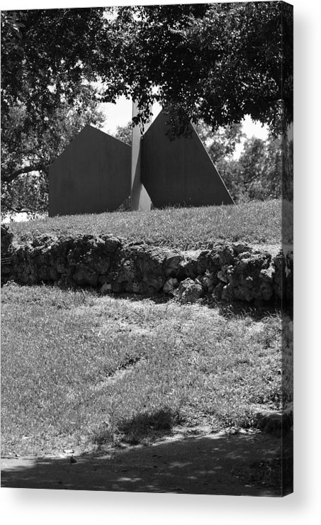 Black And White Acrylic Print featuring the photograph Abstract Sculpture by Rob Hans