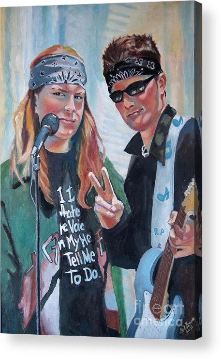 Music Acrylic Print featuring the painting After The Gig by Gail Zavala