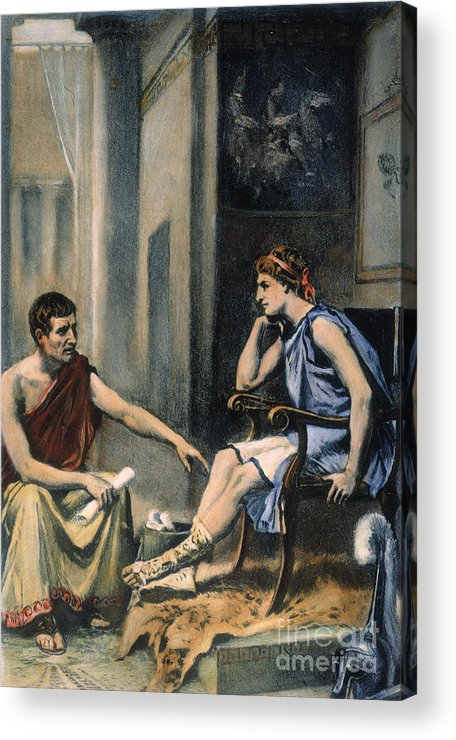 4th Century B.c. Acrylic Print featuring the photograph Alexander & Aristotle by Granger