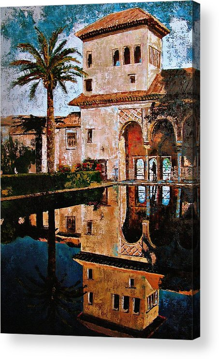 Alhambra Acrylic Print featuring the painting Alhambra by Claudia Lardizabal