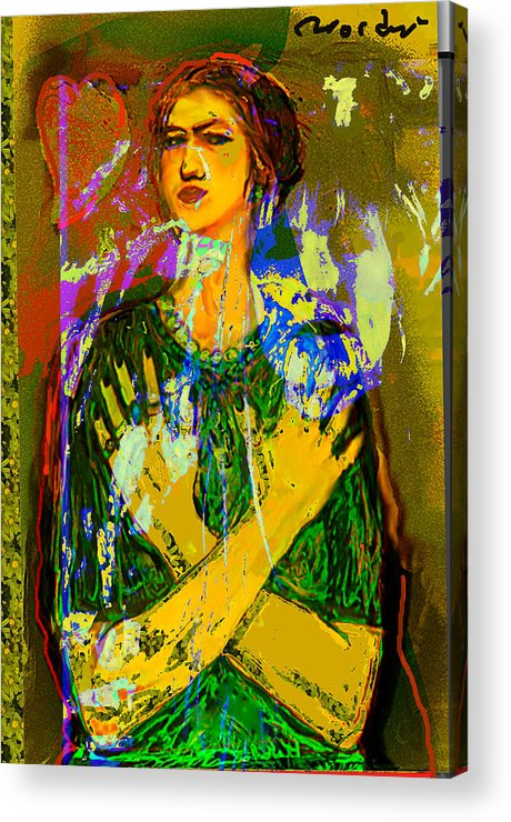 Portrait Acrylic Print featuring the painting Alter Ego 2 by Noredin Morgan