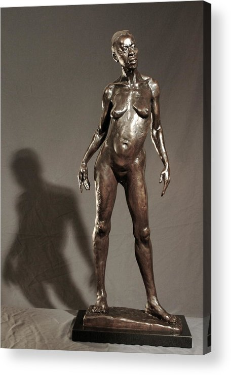 Bronze Sculpture Acrylic Print featuring the sculpture Amazing Grace by Dan Earle