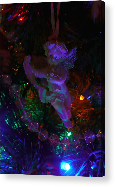 Angel Acrylic Print featuring the photograph An Angel In My Tree by Lori Seaman